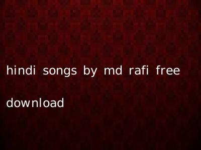 hindi songs by md rafi free download