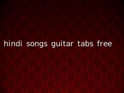 hindi songs guitar tabs free