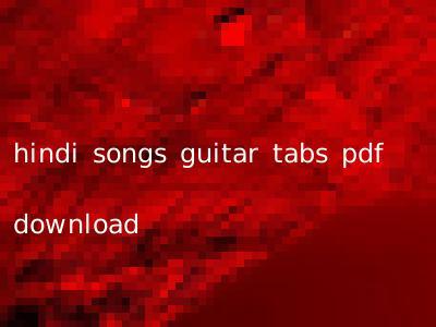 hindi songs guitar tabs pdf download