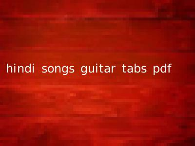 hindi songs guitar tabs pdf